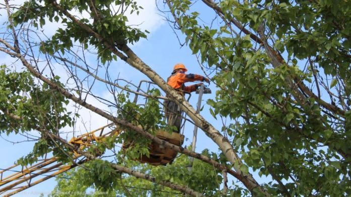 За неделю в Рязани отремонтировали более 2600 метров проводов уличного освещения