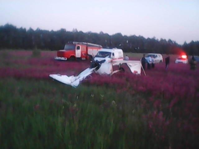 В Рязанской области упал легкомоторный самолёт