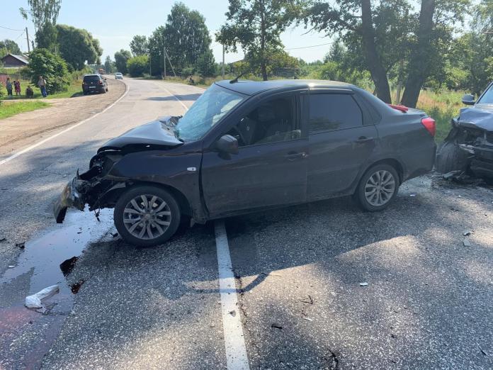 В Клепиковском районе столкнулись три автомобиля