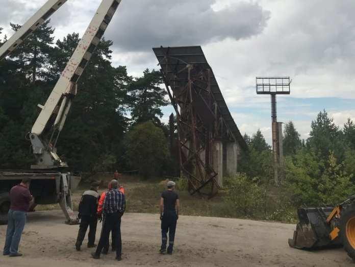 В Рязани демонтируют трамплин на Лысой горе в Солотче