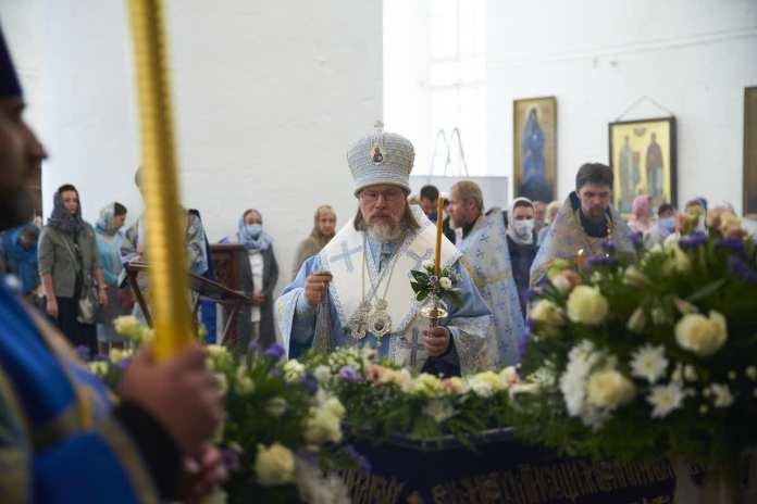 В Успенском соборе Рязани совершён чин Погребения Пресвятой Богородицы