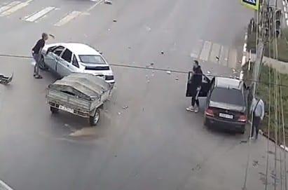 Жёсткое ДТП на Московском шоссе в Рязани попало на видео