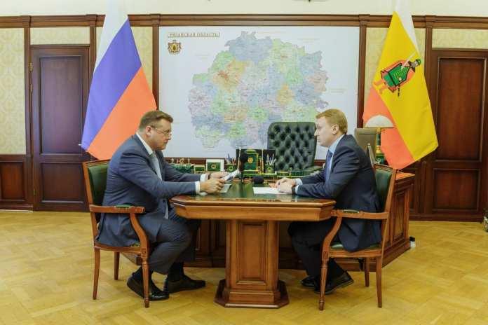 Николай Любимов встретился с министром цифрового развития, информационных технологий и связи Рязанской области