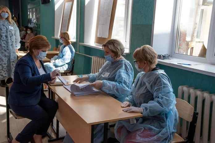 Елена Сорокина проголосовала на выборах в Рязанскую областную Думу