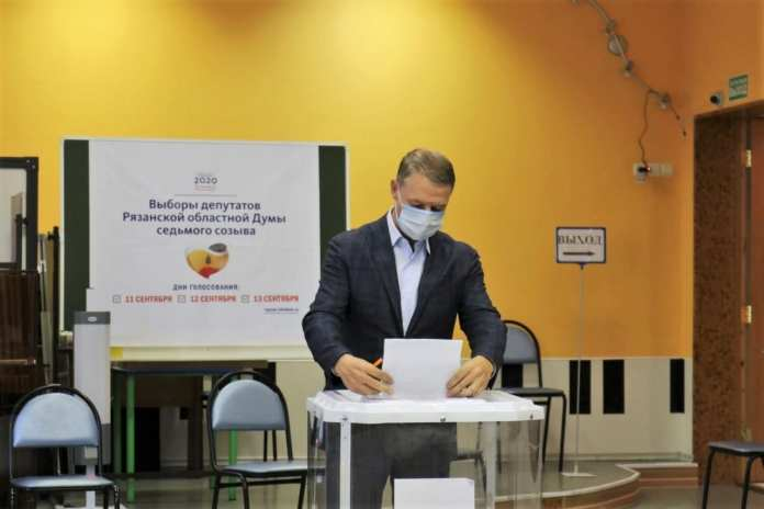 Аркадий Фомин проголосовал на выборах в Рязанскую областную Думу VII созыва