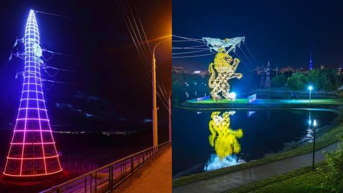 В Липецке жителям предлагают выбрать дизайн опор линий электропередач