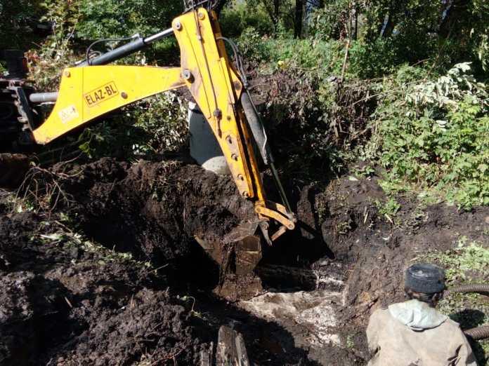В Скопинском районе произошла авария на водопроводе