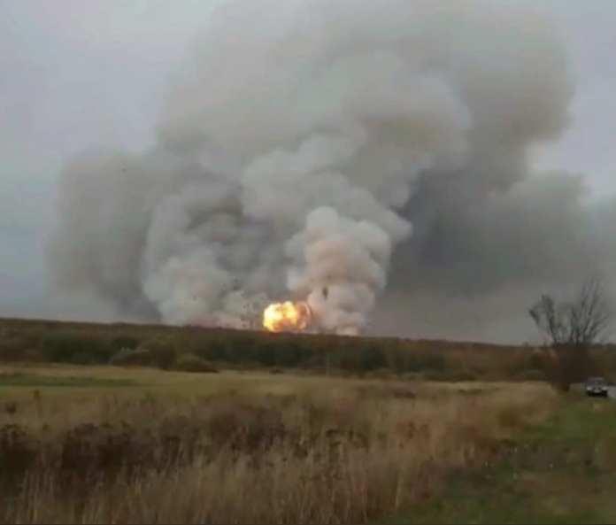 Оперативная информация о взрывах на военном складе в Рязанской области