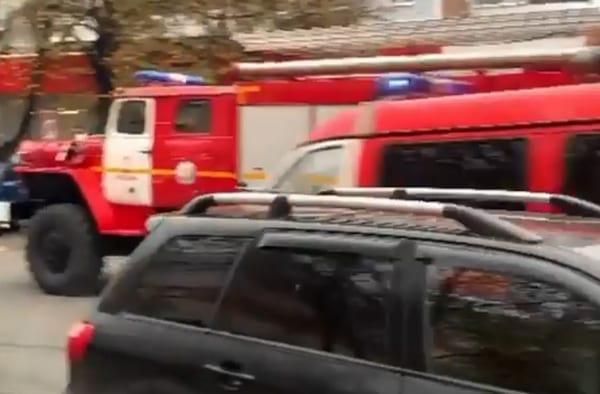 В центре Рязани заметили автомобили оперативных служб