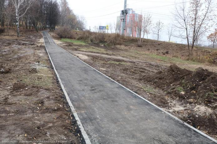 В Рязани благоустраивают сквер на Касимовском шоссе