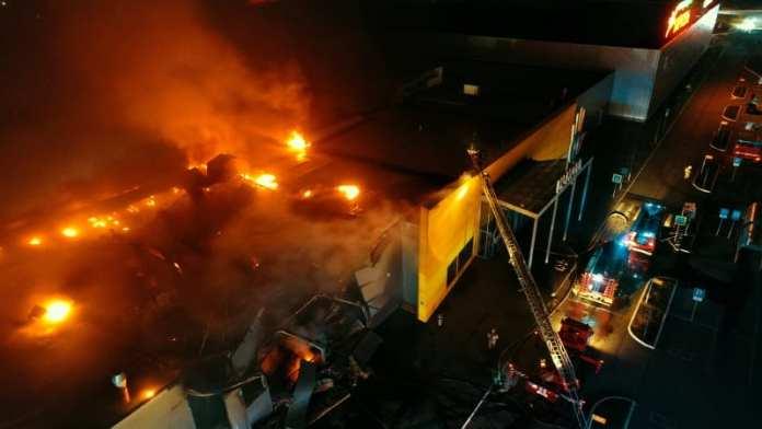 Причиной пожара в «М5 Молл» в Рязани мог стать сигнальный пистолет