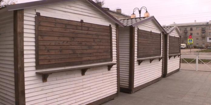 В Рязани демонтируют ярмарочные домики, пострадавшие от вандалов