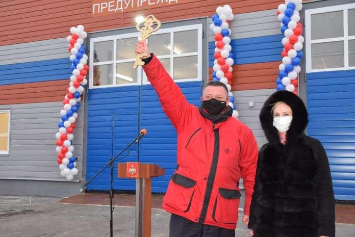 В Спасском районе открыли новое здание пожарного депо