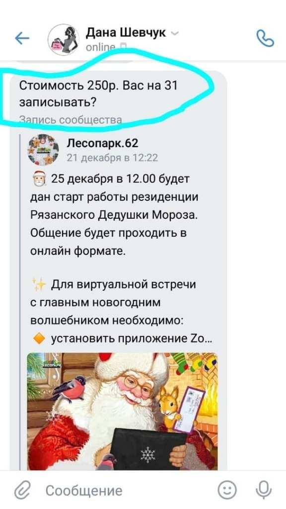 В Рязани мошенники просят деньги за бесплатное общение с Дедом Морозом