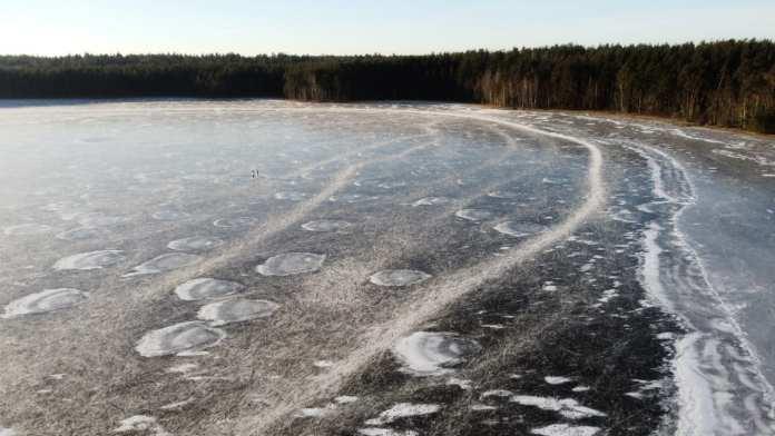 Ласковское озеро сняли с высоты