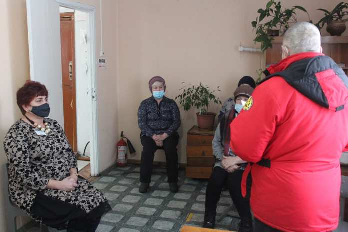 В Скопинском районе местным жителям напомнили правила пожарной безопасности