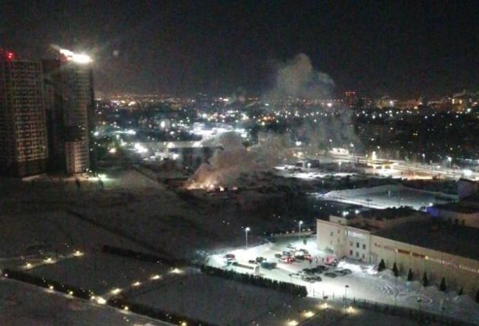 В Дашково-Песочне в Рязани произошёл пожар