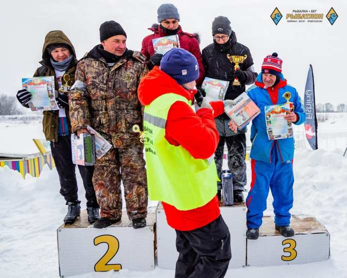 В февральском рыбатлоне под Рязанью всё решили 5 секунд