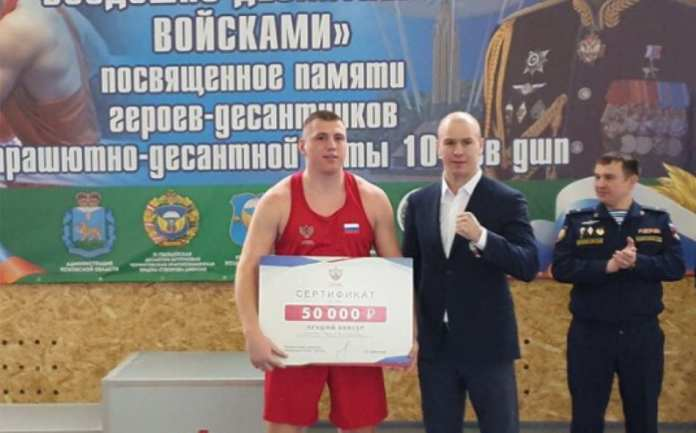 Рязанский десантник стал лучшим на всероссийском турнире по боксу