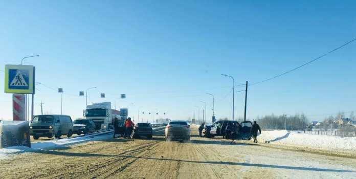 Возле поворота на Поляны под Рязанью произошла авария