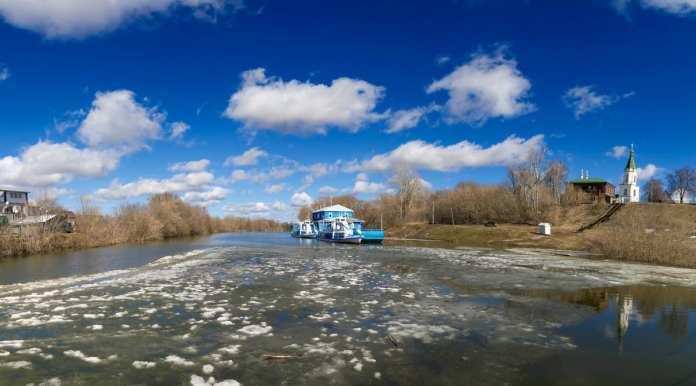За сутки вода в Оке в Рязани поднялась на 72 сантиметра
