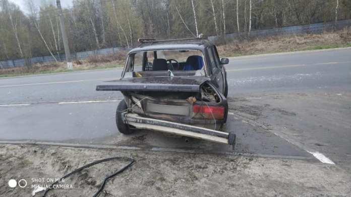Рязанец пострадал в аварии ВАЗ-2107 и Renault в Дягилеве