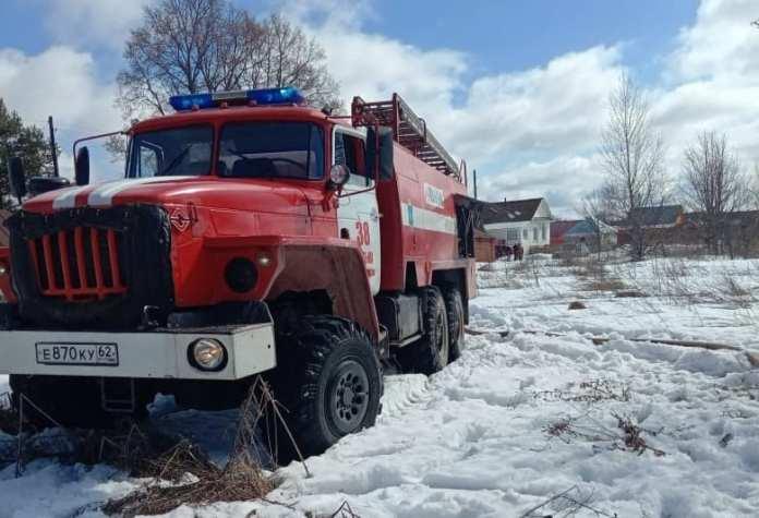 На пожаре в Касимовском районе погибли два человека