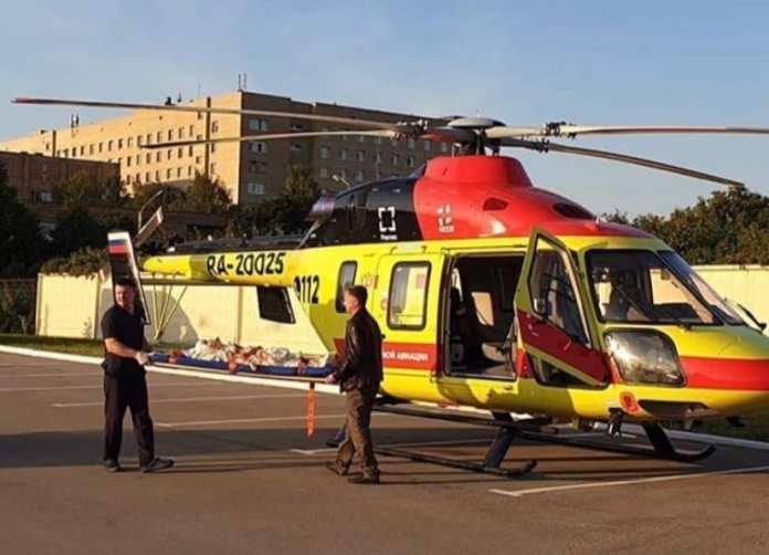 Тяжёлого пациента с кровотечением доставили в Рязань на вертолёте из Сараев