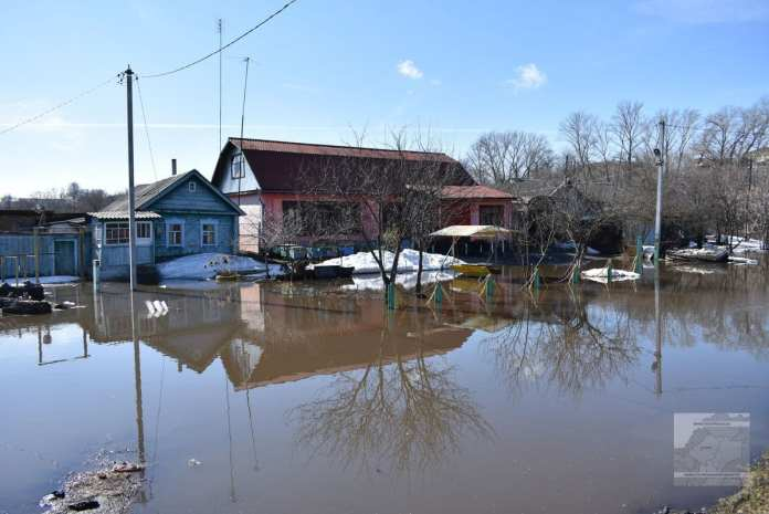 64 приусадебных участка подтопило в Ряжске из-за весеннего половодья