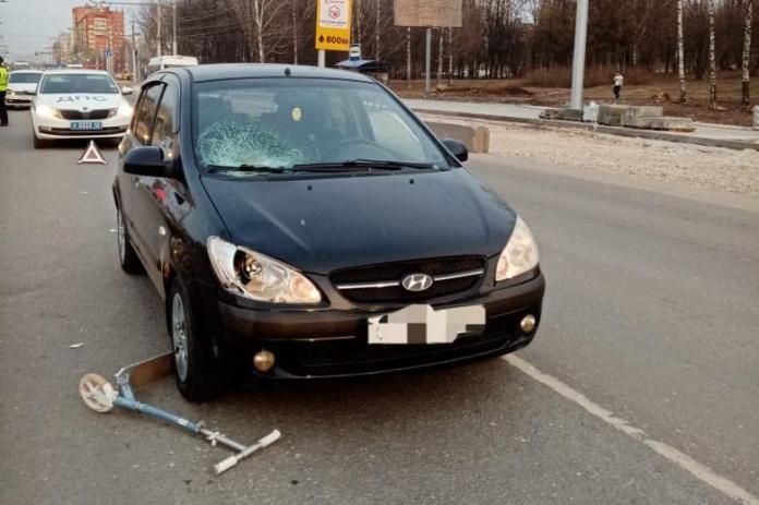 Автомобиль сбил ребёнка на Касимовском шоссе Рязани