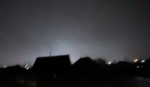 Рязанцы заметили вспышки над промышленным районом города