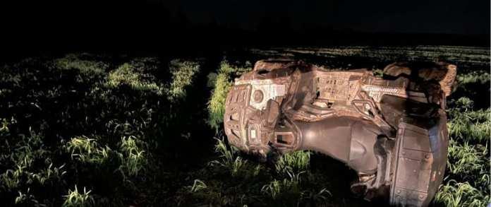 В Рязанском районе мужчина погиб в результате опрокидывания квадроцикла