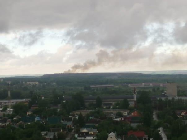 В Рязань вновь загорелась городская свалка – соцсети