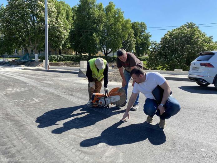 В Рязани проверили первый слой асфальта на астраханском мосту