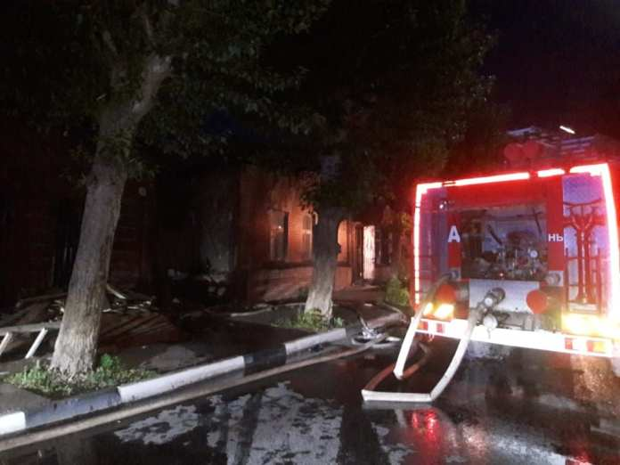 78-летний мужчина пострадал на пожаре в центре Рязани