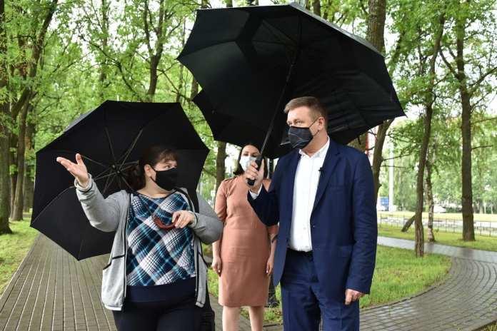 Любимов встретился с активистам ТОС в рязанской Песочне