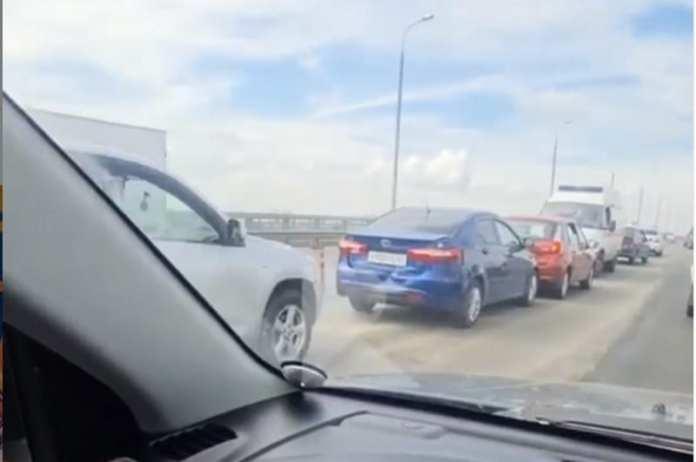На Солотчинском мосту произошло массовое ДТП