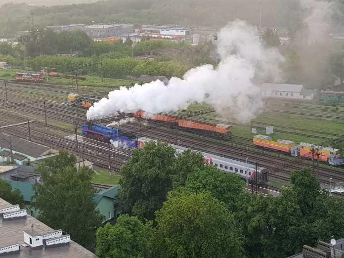 В Рязань снова приехал раритетный паровоз