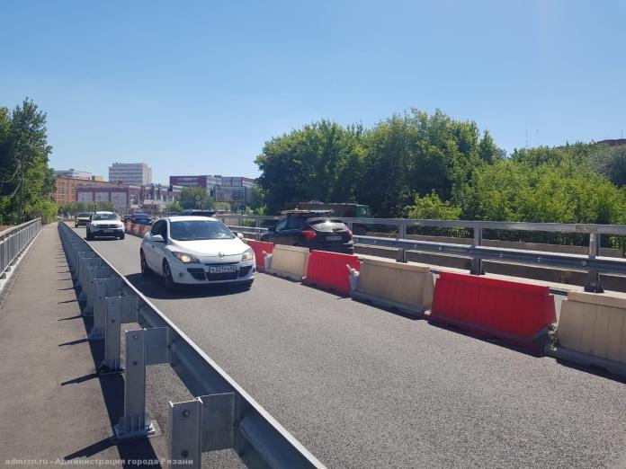 В Рязани открыли движение по отремонтированной части моста через Трубеж