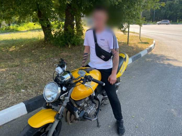 В Рязани полицейские задержали мотоциклиста без прав