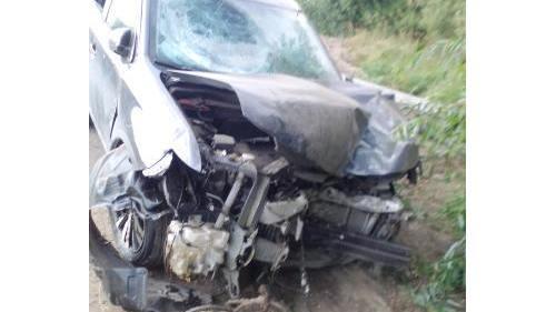 В Кадомском районе Mitsubishi Outlander врезался в столб