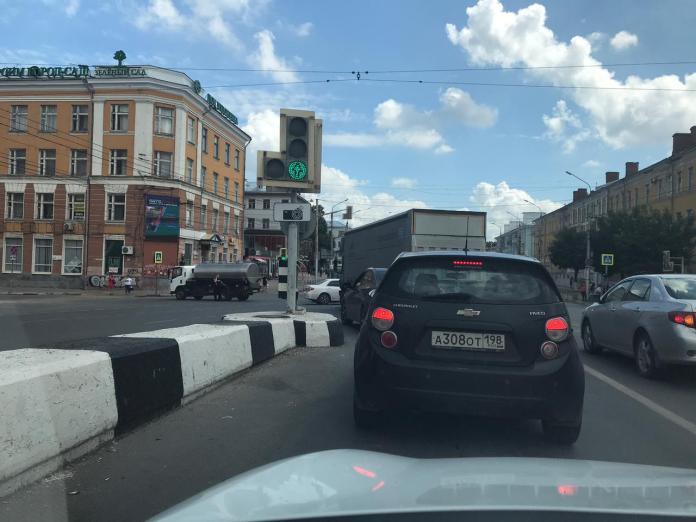 Движение в центре Рязани затруднено из-за ДТП
