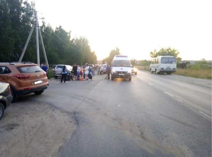 Мотоциклист протаранил две машины в Касимове