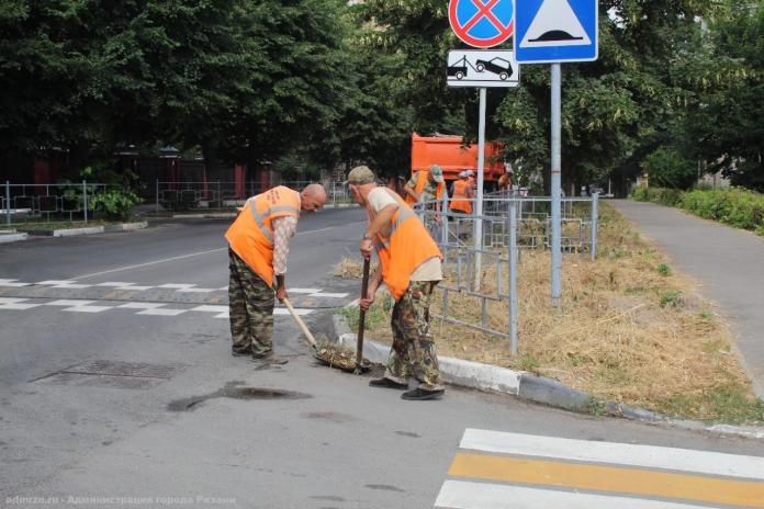В Рязани продолжают уборку города