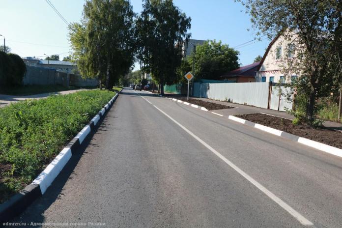 Комиссия приняла ремонт улицы Дачной в Рязани