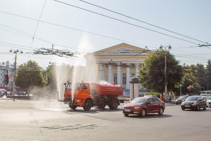 В Рязани продолжают проводить аэрацию воздуха