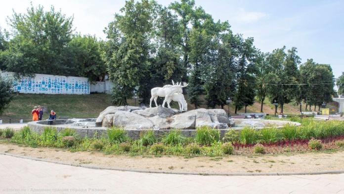В Рязани очистили городские фонтаны