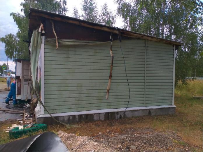 В рязанском селе Веретье сгорел магазин