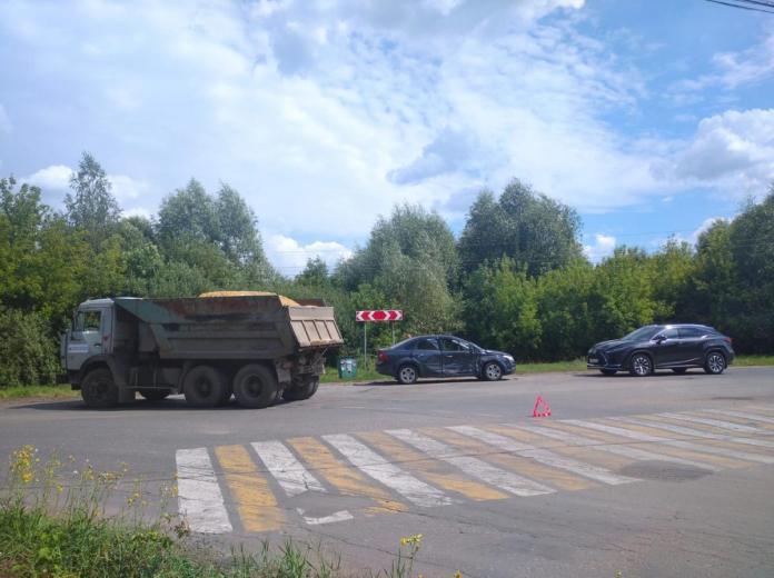 В Александро-Невском районе произошло массовое ДТП с КамАЗом