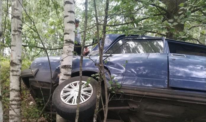 В Липецкой области три автомобиля вылетели в кювет за сутки